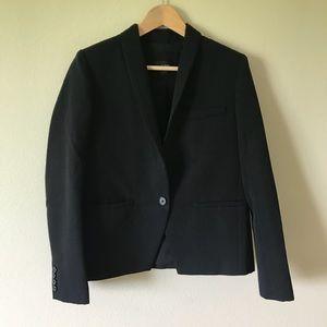 J. Crew Blazer Wool Shawl Collar Black